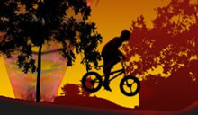 Twilight BMX acrobaties � v�lo