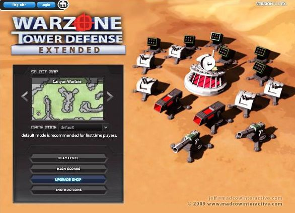 jeu Warzone Tower Defense Extended